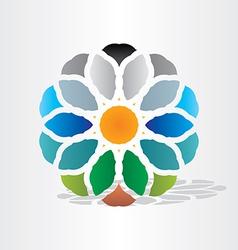 sun earth water air symbol vector image