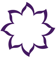 thin contour purple of flower icon vector image