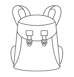 universal backpack icon outline style vector image