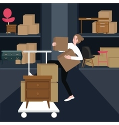 woman girls buying furniture home interior vector image