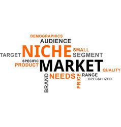 Word cloud - niche market vector