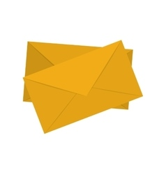 Yellow pair envelope mail icon vector