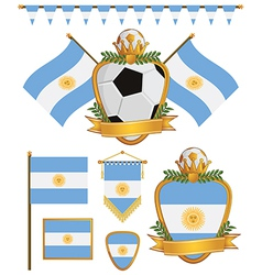 Argentina flags vector