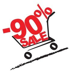 Big sale 90 percentage discount 2 vector