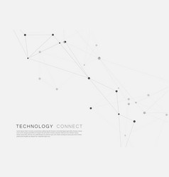 geometric and connection triangles shapes vector image