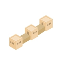 Great Wall of China icon isometric 3d style vector image