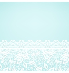 Lace border on green background vector