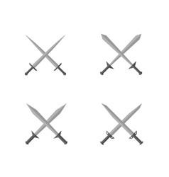 silver sword set vector image