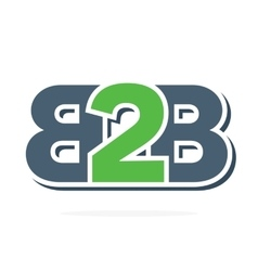 B2B letters logo Business to Business icon vector image