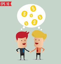 Business man hand shake - - EPS10 vector image vector image