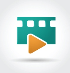 Media player icon vector image vector image