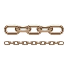 Metal chain links vector image