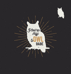 vintage hand drawn animal label tribal badge with vector image