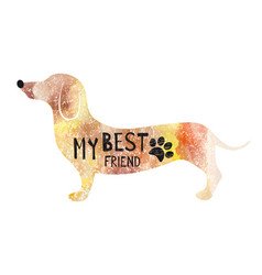 with dog typography poster vector image