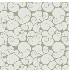 Abstract seamless floral swirls wallpaper vector image vector image