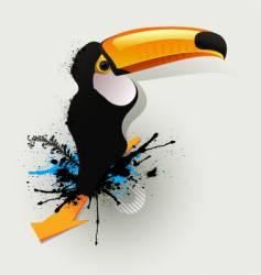 graffiti drawing birds vector image vector image