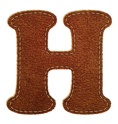 Leather textured letter H vector image vector image