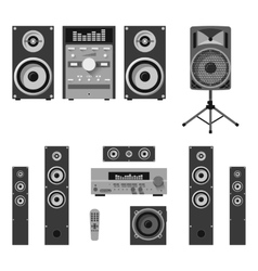 set of audio and music systems icons vector image vector image