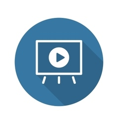 Video Presentation Icon Business Concept Flat vector image vector image
