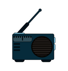 white background with portable radio vector image vector image