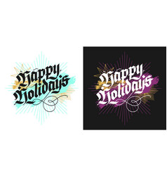 christmas lettering greeting cards vector image