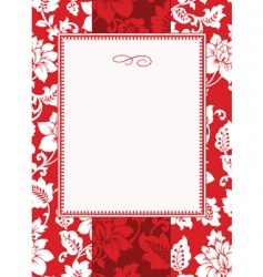 Christmas pattern and frame vector image vector image