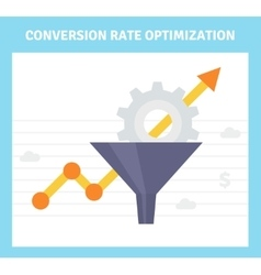 Conversion optimization banner in flat style - vector