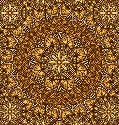 golden floral ornament background vector image vector image