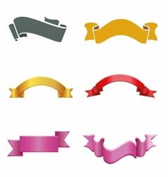 Ribbon banner labels vector image