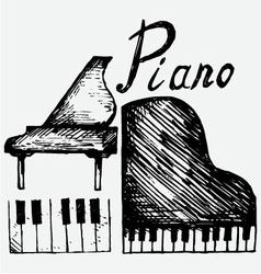 Set piano vector image vector image