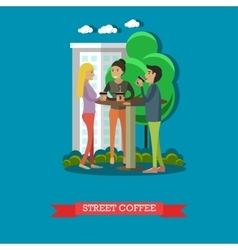 Street coffee concept in flat vector image vector image
