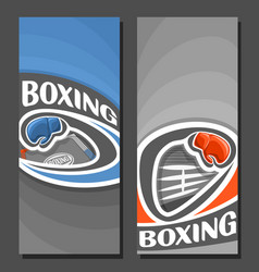 vertical banners for boxing vector image