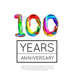 100th anniversary congratulation for company or vector