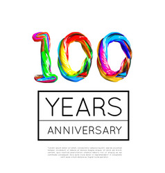 100th anniversary congratulation for company vector image
