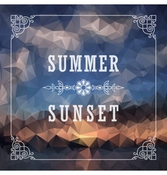 Abstract Geometric background Summer abstract vector image