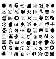 abstract symbols and signs - icon set vector image