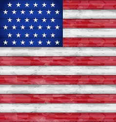 American flag for independence day wood texture vector