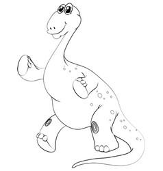 animal outline for brachiosaurus vector image vector image