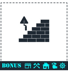 Architecture and Building icon flat vector