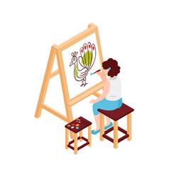 Art school lesson icon vector