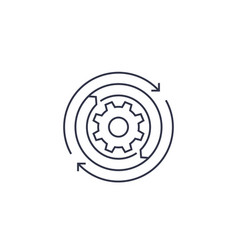 Automation line icon vector