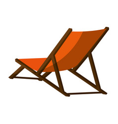 Beach seat icon vector