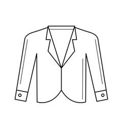 Blazer line icon vector