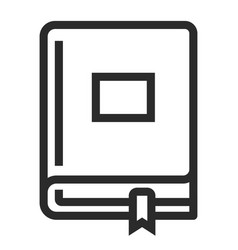 book with a bookmark icon study and information vector image