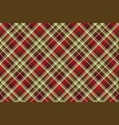 British classic check plaid seamless pattern vector