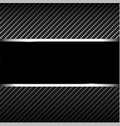 carbon background with banner vector image