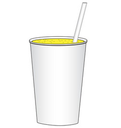 Cardboard cup with a drink vector