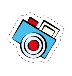 Comic photo camera image vector