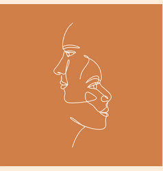 continuous line drawing abstract portrait a vector image