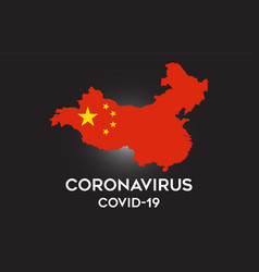 coronavirus in china and country flag inside vector image